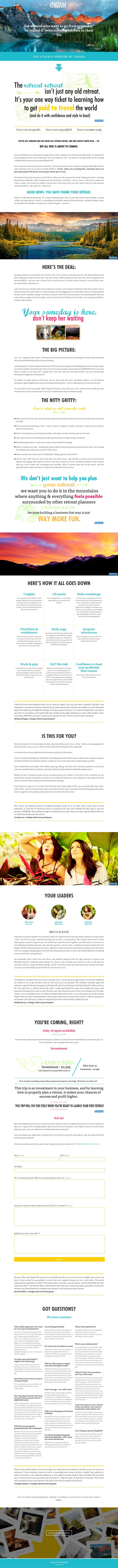14 best sales pages landing pages images on pinterest design the retreat retreat designed by lis dingjan at the identity fandeluxe Image collections