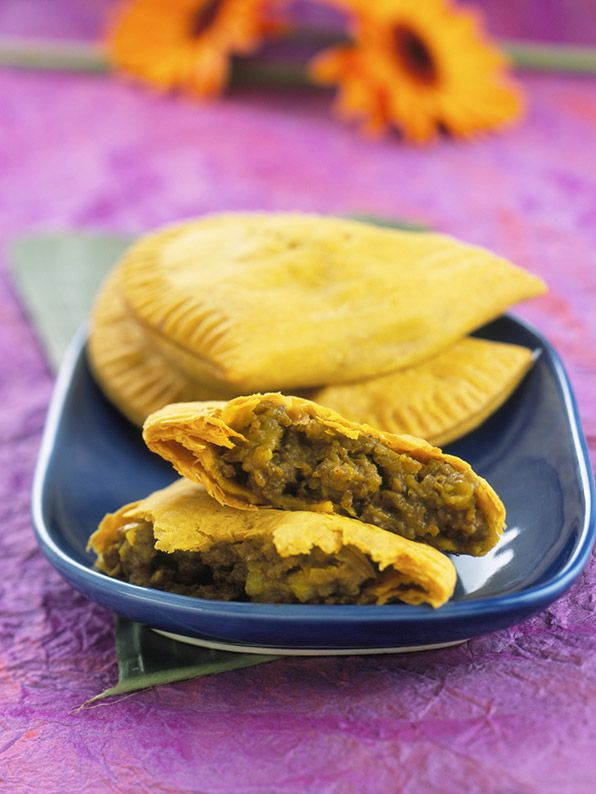 jamaican patties are flaky pastries made like turnovers