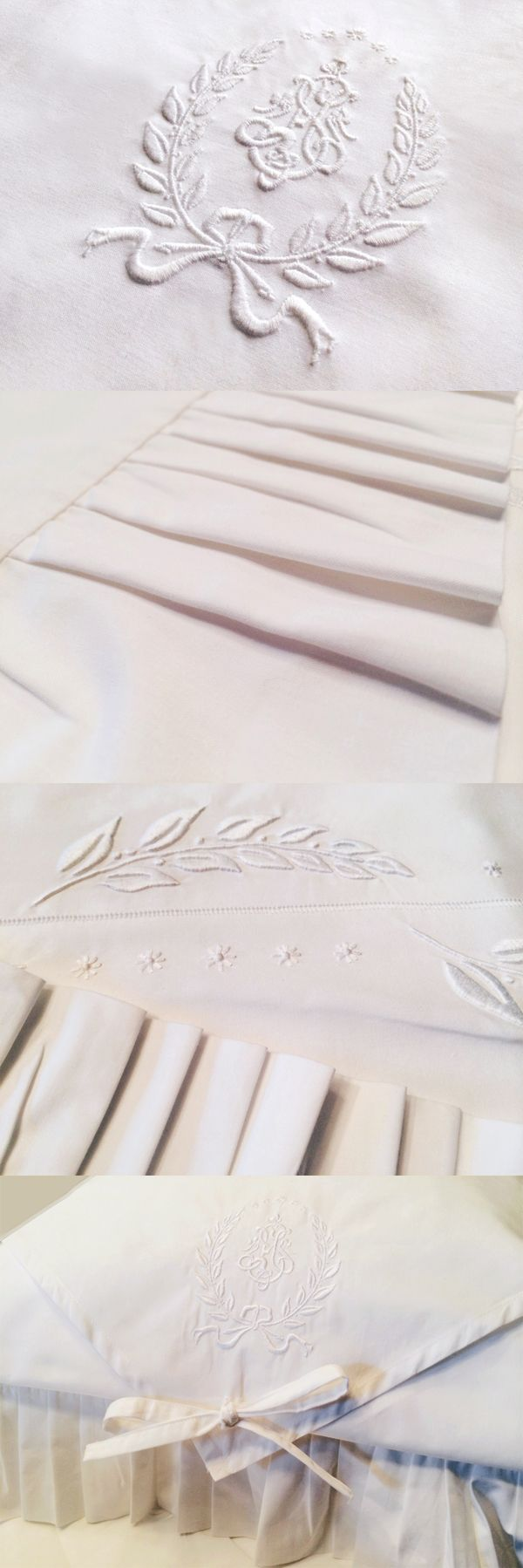 Bed Linen Embroidery First Prototype | By ROMÂNICO Bordados for Stroganov Hotel