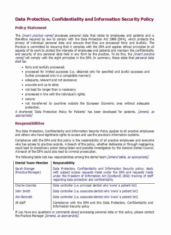 Information Security Policies Templates Luxury 42 Information Security Policy Templates Cyber Security Policy Template Brochure Design Template Cyber Security
