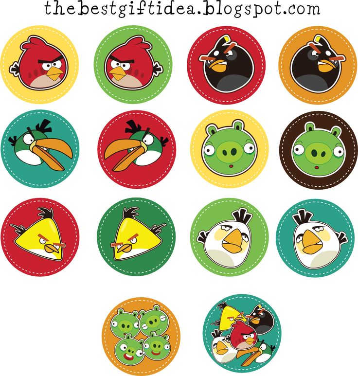 angry birds cupcake toppers {free print}
