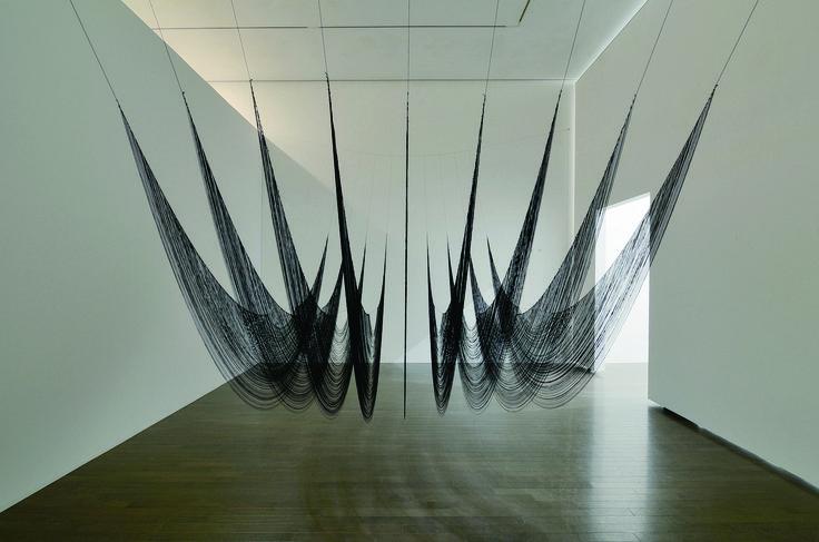 Akane Yorita, The Ninth Wave, rayon threads, polyester, H190xW420xD160cm, 2015 (detail)
