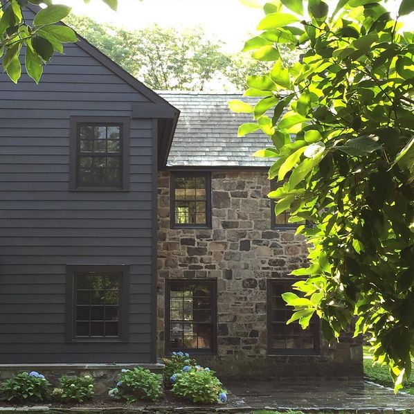 Best 25 black house exterior ideas on pinterest black for Old deep house