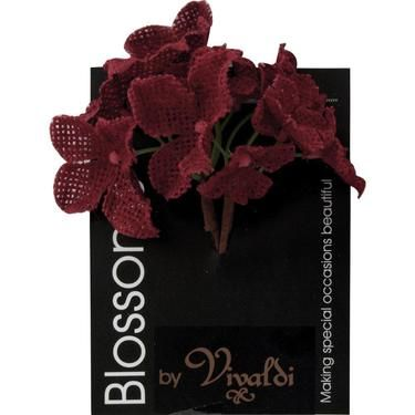 $4.99 Vivaldi Blossoms 14 Head Hessian Flower Bunch
