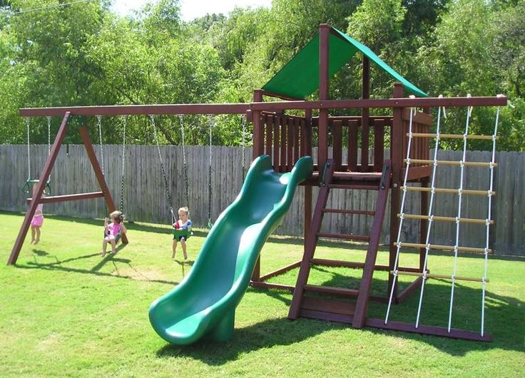 Free diy wooden swing set plans woodworking projects plans for Homemade swing set plans