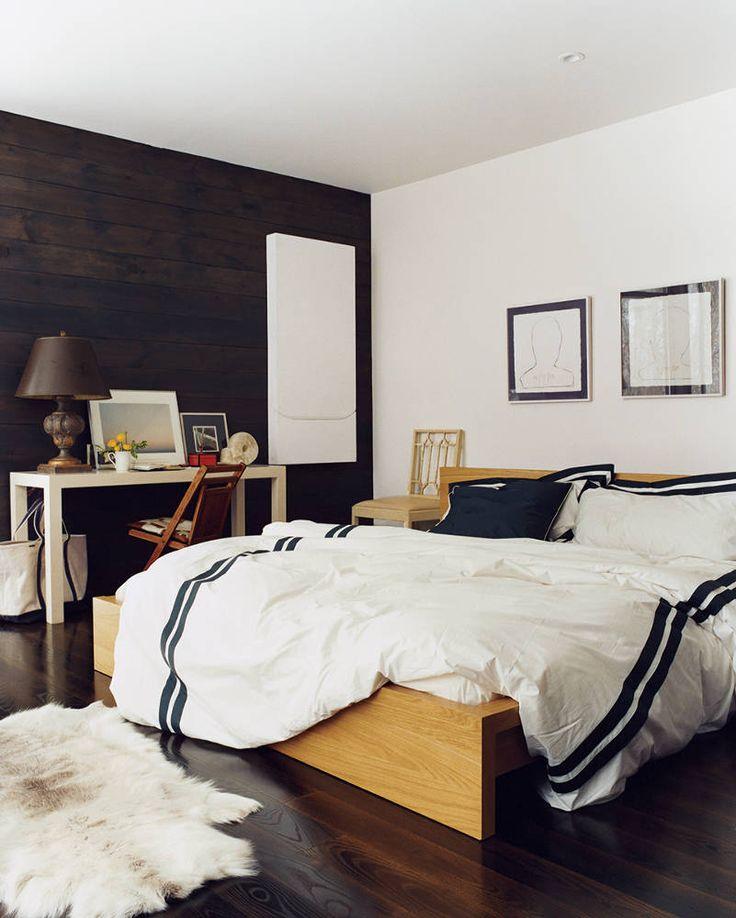 black/ white bedding