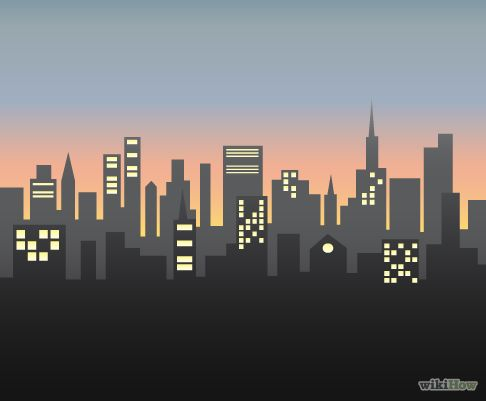 hints on how to draw a city scape