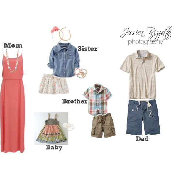 """What To Wear - Family Beach Portraits / Summer Portraits"" by jessicarizzottophotography on Polyvore"