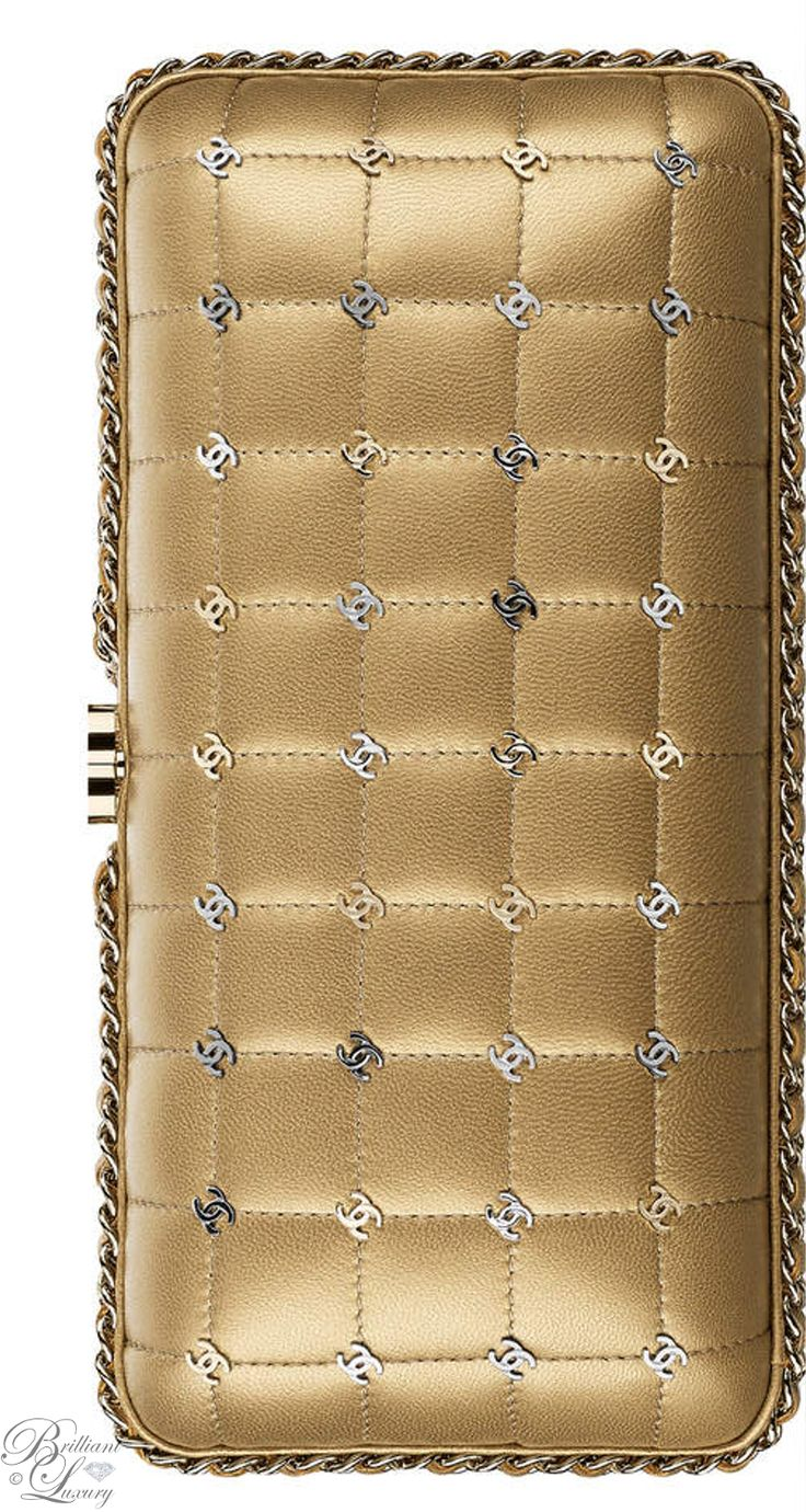 Brilliant Luxury by Emmy DE ♦Chanel Gold Metallic Lambskin Evening Bag FW 2016/17