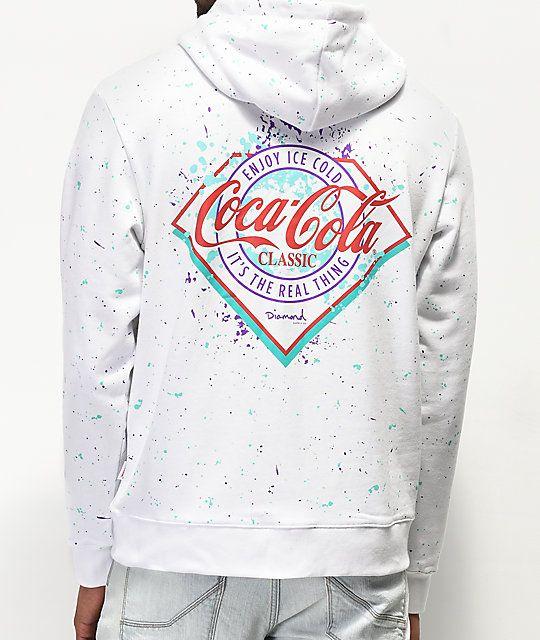 1062745d7b Diamond Supply Co. x Coca-Cola Splatter Paint White Hoodie in 2019 ...
