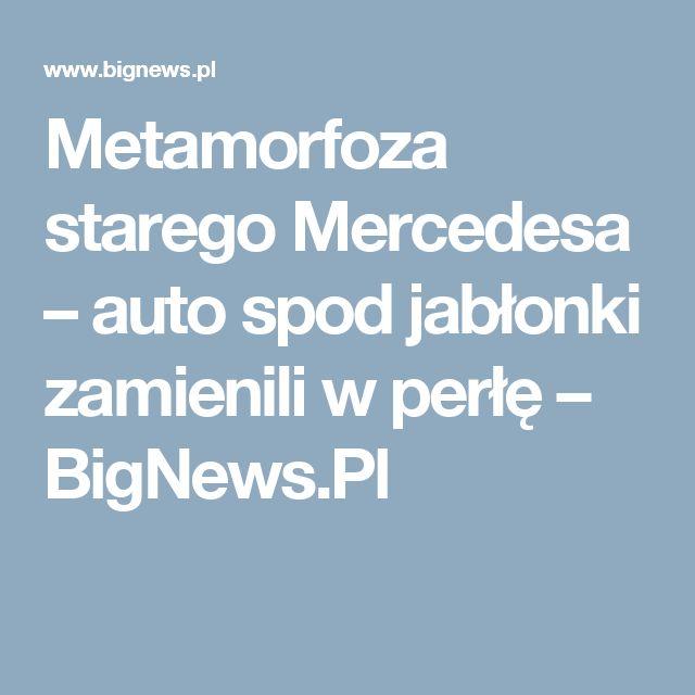 Metamorfoza starego Mercedesa – auto spod jabłonki zamienili w perłę – BigNews.Pl