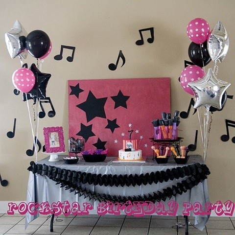 girl rockstar party decorations - Google Search                                                                                                                                                                                 More