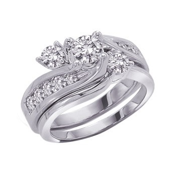 Angara Slanted Channel-Set Diamond Cluster Engagement Ring oxM1bj