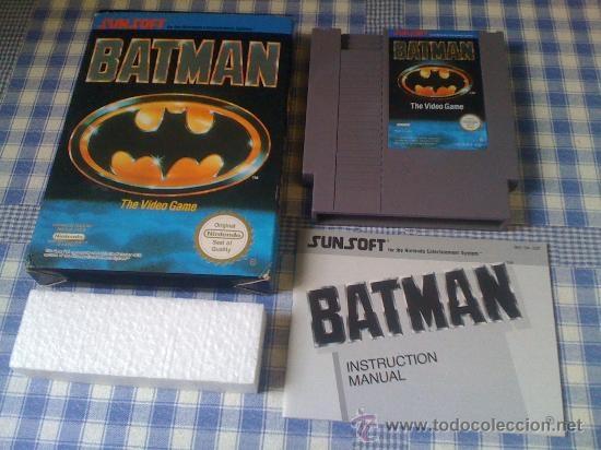 Batman Juego para Nintendo NES PAL Completo Versión Española Como nuevo