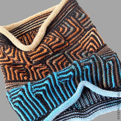 Modular Knitting Patterns Free : Wool Scarf Modular Knitting knitting patterns and inspirations Pinterest ...