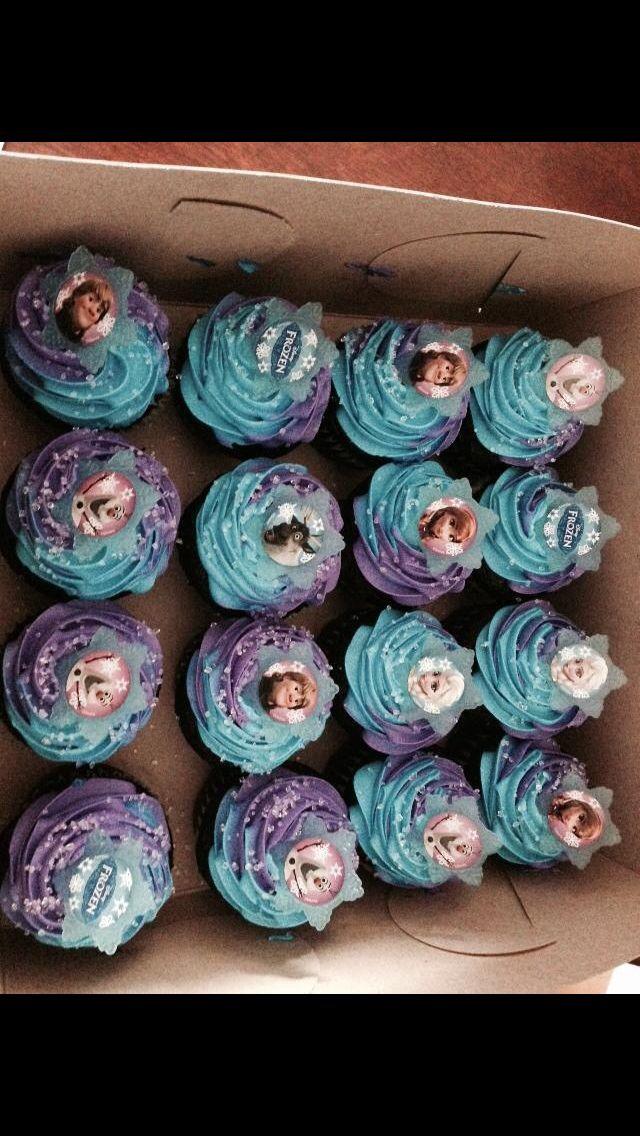 Frozen cupcakes!!