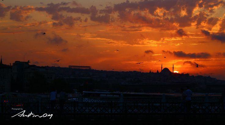 Sunset of Istanbul   @Istanbul, Turkey