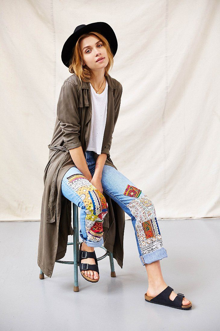 Urban Renewal Foreign Bazaar Patched Jean