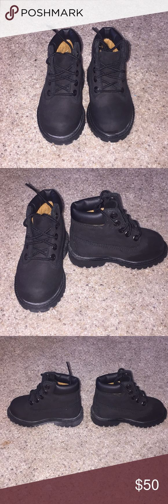 Kids Timberland boots Timberland boots size 5 black. Prefect condition. No box Timberland Shoes Boots
