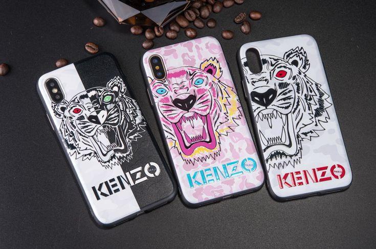 有名ブランド風ケンゾーKENZOのiPhoneX、iPhone8、iPhone7ケース。流行りの配色で男女にも大変人気!カップル向けのタイプで沢山の恋人愛用!