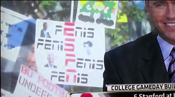 Throwback to this college gameday sign...
