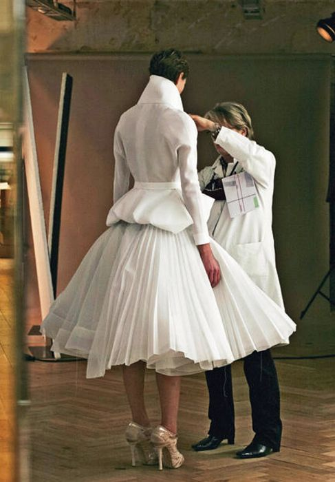 Christian Dior - Maybe I should start wearing a white coat when I work.  Making clothing is serious work, might as well look like it!!!