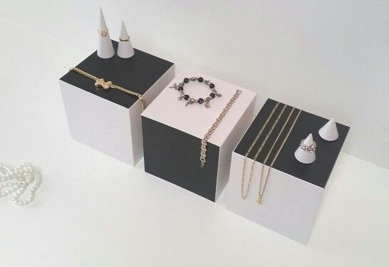 Jewelry display riser set . To present your jewelry some way different .