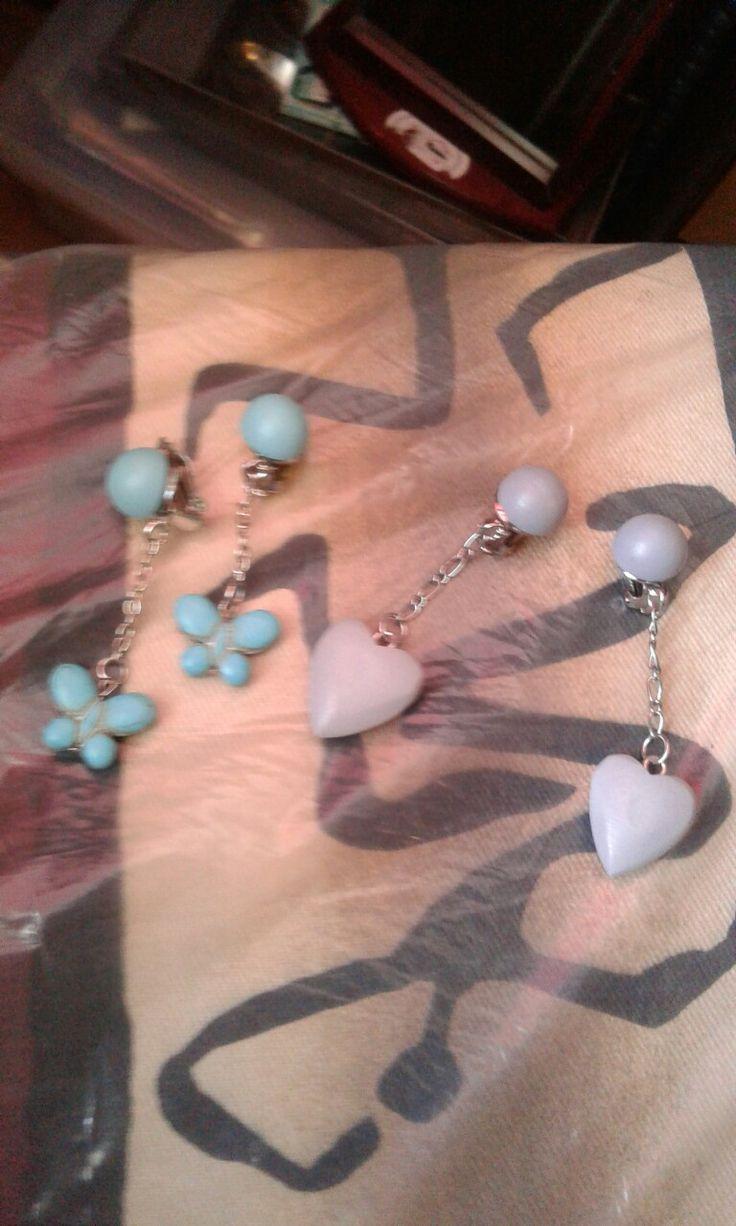 clip on earrings made