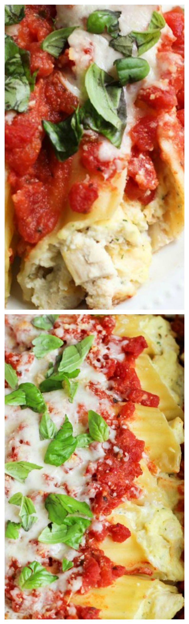 Parmesan Chicken Manicotti ~ Delicious and super easy!