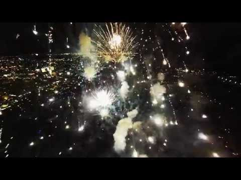 Click here to watch the entire video. | This Incredible Drone Video Shows Fireworks From Inside Their Explosions