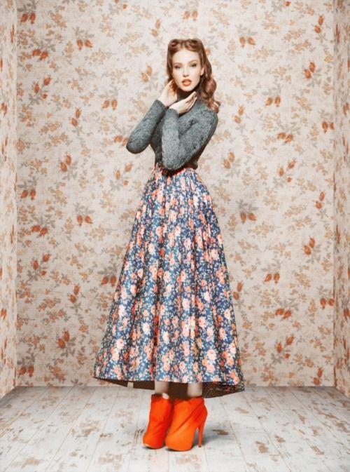 Ulyana Sergeenko Fall/Winter 2011/12 lookbook on Vogue: Fashion, Inspiration, Style, Vintage, Clothes, Dresses, Photo, Fall Winter, Ulyana Sergeenko
