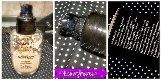 NOSINMYMAKEUP: Imprescindibles: Base Face and Body de Makeup Forever