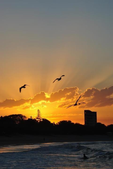 Sunset Mooloolaba Beach - Australia -