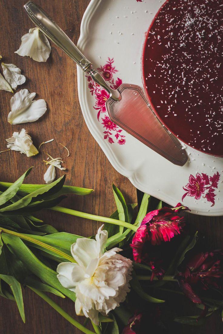 RECETTE Bavarois aux cerises {vegan et sans gluten}  #bavarois #cerise #sansgluten #vegan #bavariancream #cherry #glutenfree #food #photography #foodphotography