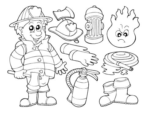 Firefighter coloring pages for toddlers ~ 101 best birthday images on Pinterest | Parties kids, Baby ...