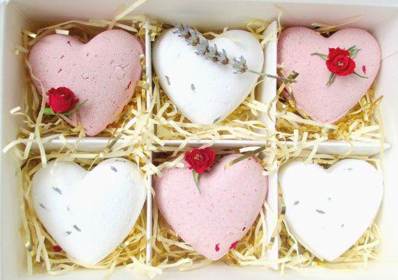 Sweetheart Bath Bomb Gift Set Hearts by BahariBlossom on Etsy