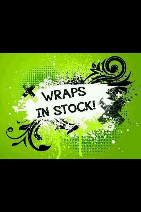 I've got wraps In Stock $25 a demo