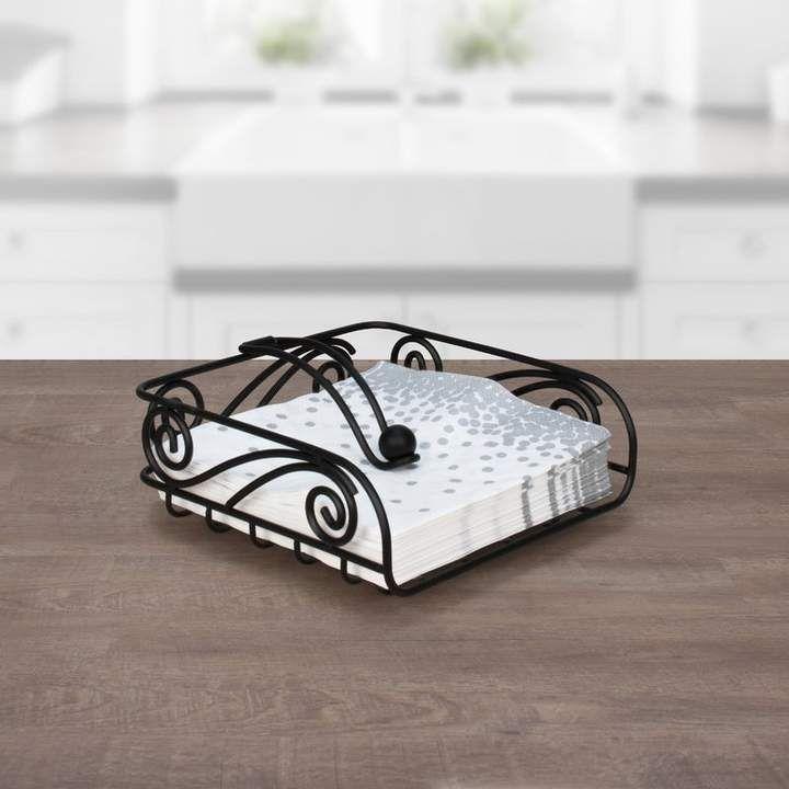 Deco Flat Napkin Holder Napkin Holder Metal Paper Towel Holder Guest Towel Holder