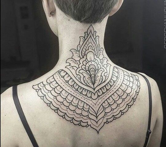 Neck Mandala Tattoo Jerusalem House