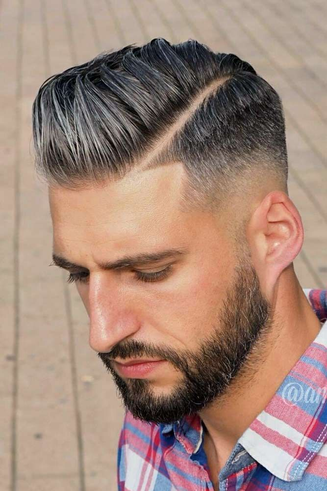 Mid Skin Fade With A Hard Part Skinfade Fadehaircut Menhaircuts