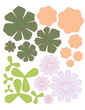 Paper Succulents Cut File Preview                                                                                                                                                                                 More