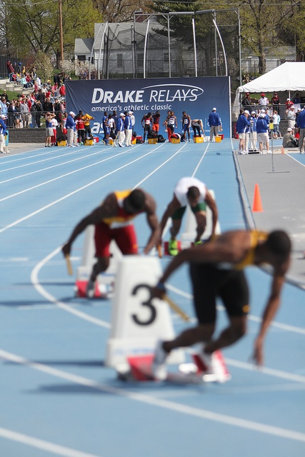 From Relays 2011. (A track photo with great depth of field!) Love watching Drake Relays!