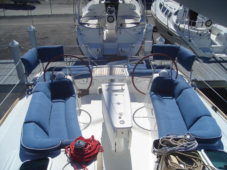 Beneteau Oceanis 40.  Murray Yacht Sales had JSI build these cushions which JSI won award for them.  www,MurrayYachtSales.com