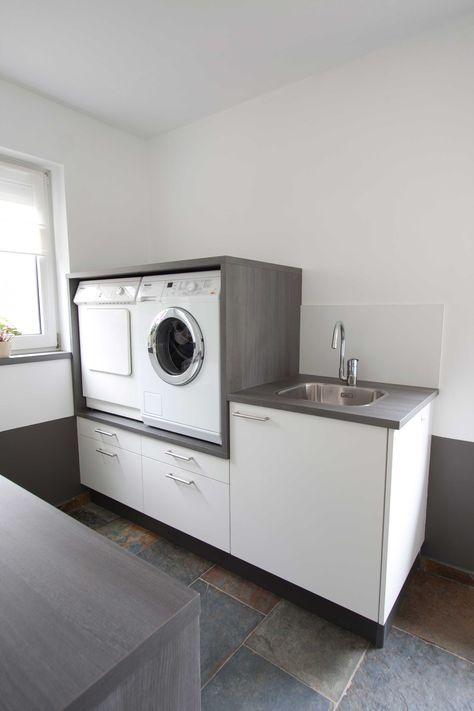 Handig: Wasmachine op hoogte met daaronder lades voor was