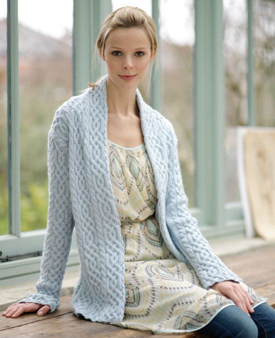 Easy Aran Cardigan Knitting Pattern : 17 Best images about Knitting and Crocheting on Pinterest ...