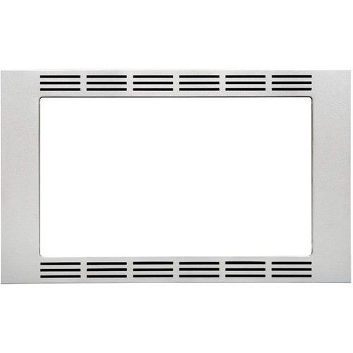"Panasonic - 27"" Trim Kit for Select Microwaves - Stainless Steel - Front_Standard"