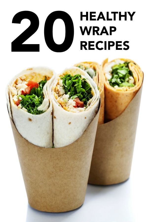 20 Healthy Wrap Recipes – these are perfect for healthy lunches on-the-go or meal prep!