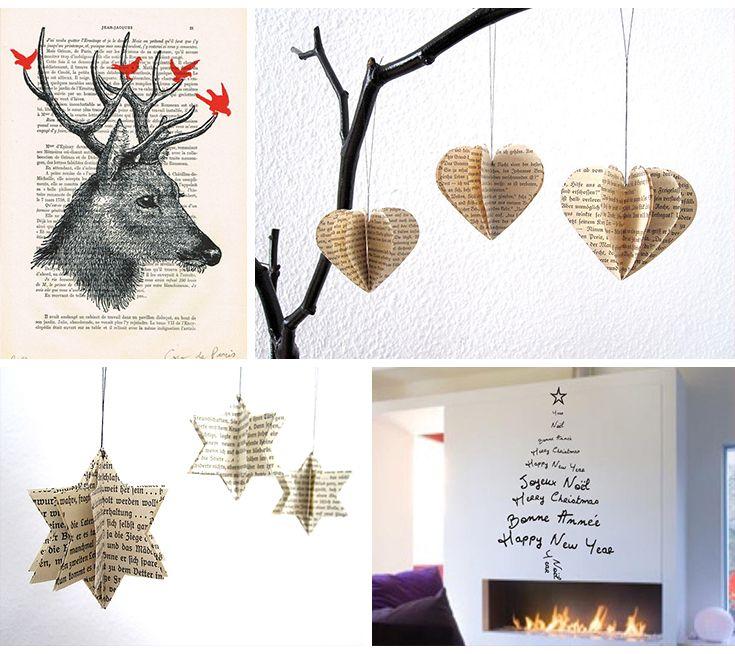 Inspirations déco de #noel Pliages & Lettrages  #christmas #xmas