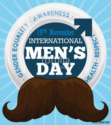 Mustache and Male Symbol Design for International Men's Day