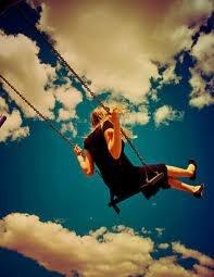 free: Little Girls, Blue Sky, Inspiration, Dreams, Happy, Cloud, Photography, Feelings, Swings Sets